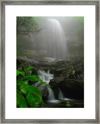 Framed Print featuring the photograph Rainbow Falls In Fog by Doug McPherson