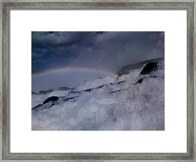 Rainbow Falls Framed Print by Matthew Slowik