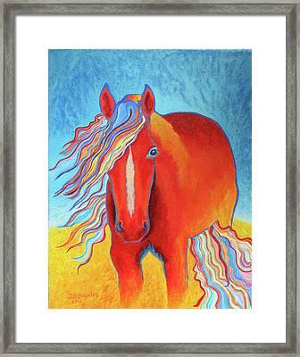 Rainbow Fire Framed Print