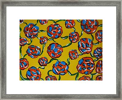 Framed Print featuring the painting Rainbow Flowers Yellow by Gioia Albano