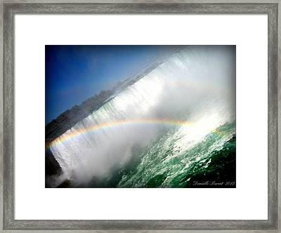 Framed Print featuring the photograph Rainbow For The Maid Of The Mist by Danielle  Parent