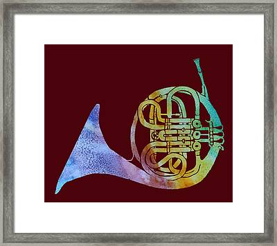 Rainbow Frenchhorn  Framed Print