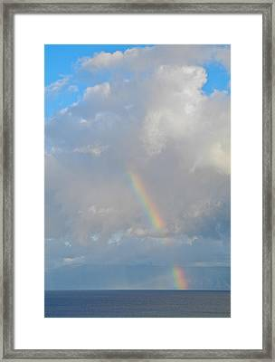 Rainbow From Molokai Framed Print by Kirsten Giving