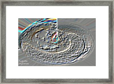 Rainbow Galaxy Framed Print by Augusta Stylianou