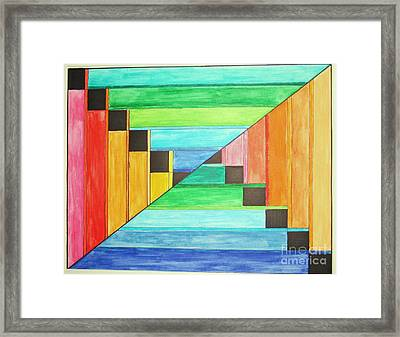 Rainbow In Line Framed Print