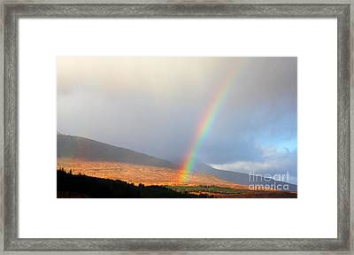 Rainbow In Scotland Framed Print by Holger Ostwald