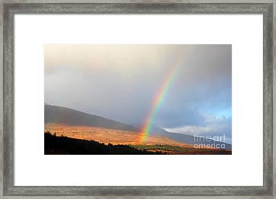 Rainbow In Scotland Framed Print by Holger Ostwald
