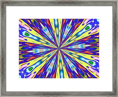 Rainbow In Space Framed Print by Alec Drake