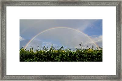 Rainbow In Warwick Framed Print