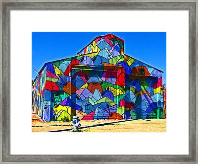 Rainbow Jug Building Framed Print by Samuel Sheats