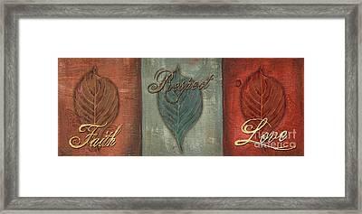 Rainbow Leaves 1 Framed Print by Debbie DeWitt