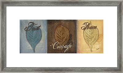 Rainbow Leaves 2 Framed Print by Debbie DeWitt