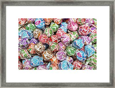 Rainbow Lollipops Framed Print by Andee Design