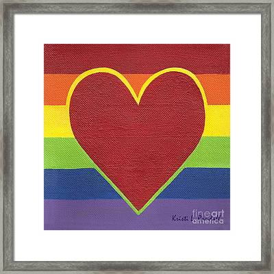 Rainbow Love Framed Print by Kristi L Randall