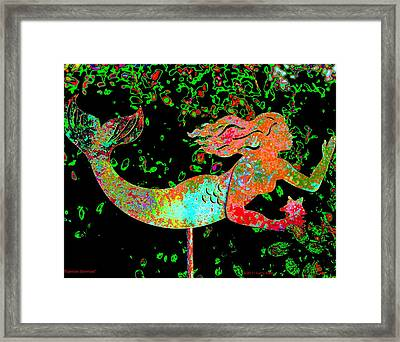 Rainbow Mermaid Framed Print