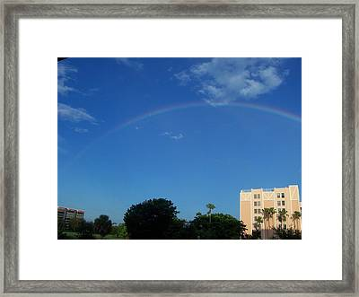 Framed Print featuring the photograph Rainbow Morning by Sheila Silverstein