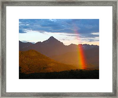 Rainbow Mountain Framed Print