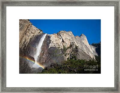 Rainbow On Bridalveil Fall Framed Print