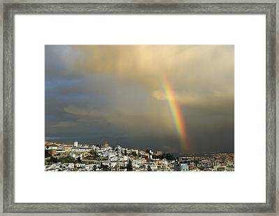 Rainbow Over Granada Yesterday Framed Print by Guido Montanes Castillo