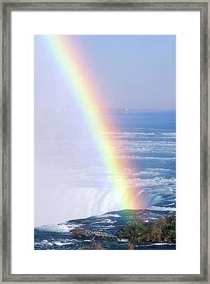 rainbow Over Niagara Falls, New York Framed Print by VisionsofAmerica/Joe Sohm