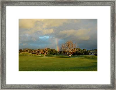 Framed Print featuring the photograph Rainbow Over Princeville by Lynn Bauer