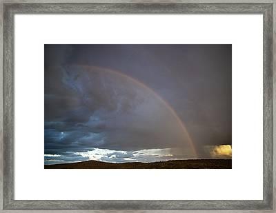 Rainbow Over The Painted Desert Framed Print