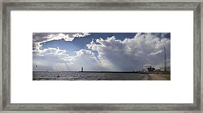 Rainbow Panoramic Framed Print by Joe Gee