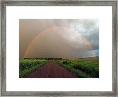 Rainbow Framed Print by Pat Gaines