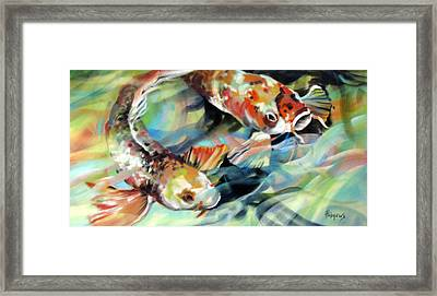 Framed Print featuring the painting Rainbow Patterns by Rae Andrews
