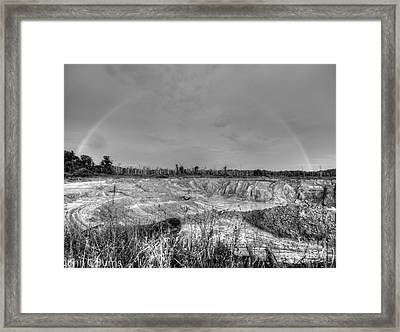 Framed Print featuring the photograph Rainbow Pit by John Burns