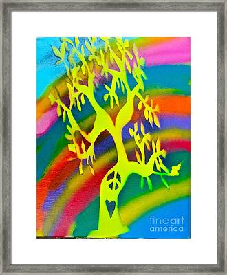 Rainbow Roots Framed Print by Tony B Conscious
