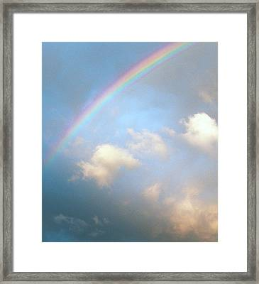 Rainbow Framed Print by Sally Stevens