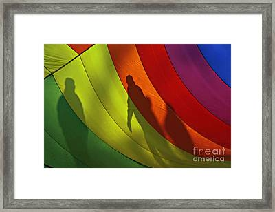 Rainbow Shadows Framed Print
