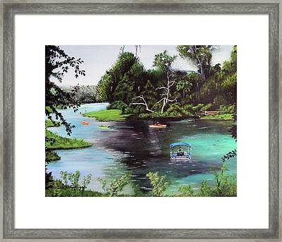 Rainbow Springs In Florida Framed Print by Luis F Rodriguez