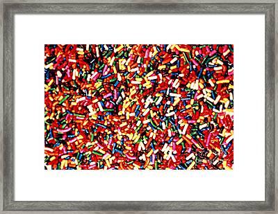 Rainbow Sprinkles Framed Print