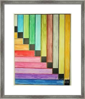 Rainbow Stairway Framed Print