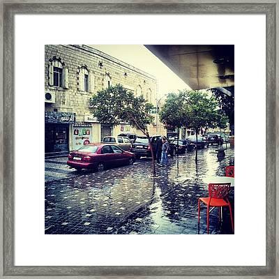 Rainbow Street #amman #jo #jordan Framed Print