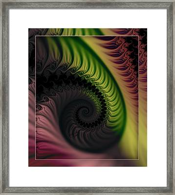 Rainbow Swirl Framed Print