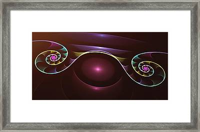 Rainbow Swirls - A Fractal Design Framed Print by Gina Lee Manley