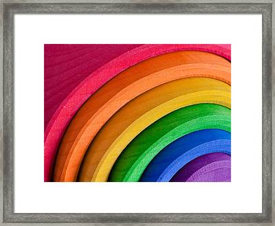 Rainbow Framed Print by Tom Gowanlock