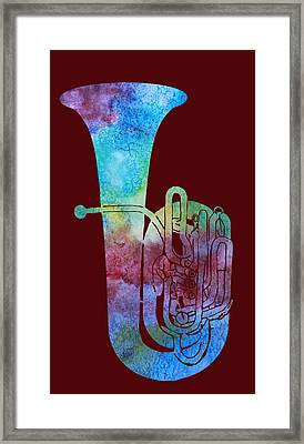Rainbow Tuba Framed Print by Jenny Armitage