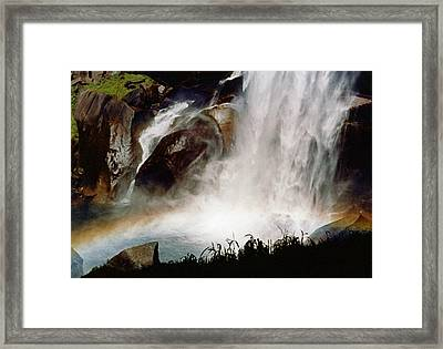 Rainbow Under Vernal Falls 2 Framed Print