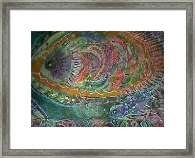 Rainbow Under Water Framed Print by Anne-Elizabeth Whiteway