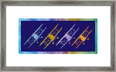 Rainbow Wing Framed Print
