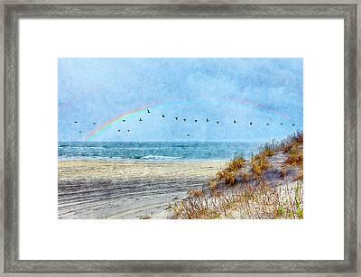 Rainbows And Wings II Framed Print by Dan Carmichael