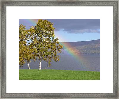 Rainbow's End Framed Print