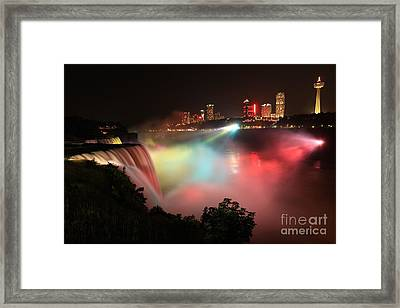 Rainbows In The Night Framed Print