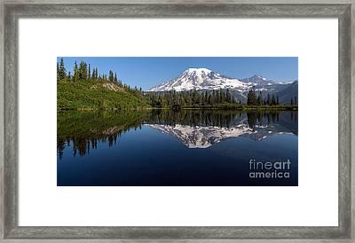 Rainier Clarity Framed Print by Mike Reid