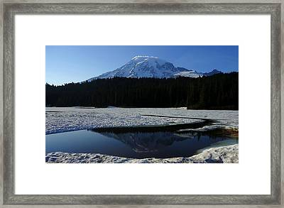 Rainier Reflected Framed Print