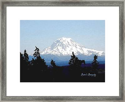 Framed Print featuring the photograph Rainier Reign by Sadie Reneau